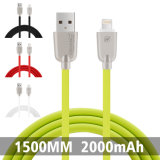 C3420 2.4A 1.5M TPE en alliage de zinc Material Data Câble micro USB (vert)