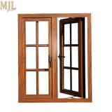 El mejor precio compuesto de aluminio revestido de madera marcos de ventana de Casement