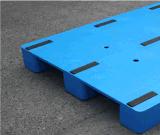 plateau en plastique Rackable de HDPE en plastique lourd plat de palette de 1200*1000*150mm avec 3 turbines pour la logistique
