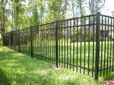 Frontière de sécurité enduite de jardin d'agrément de poudre noire de qualité