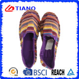 Shoes (TN36705)多彩で平らで、快適な漁師のサンダルの女性