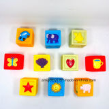 Brinquedos de empilhamento de jogo educacionais dos blocos do projeto