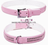 Pink / Green Super Soft Rhinestone Inside Pet Collar, produtos para cães