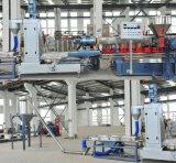 Granulierende Zeile des Glasfaser-Doppelschrauben-PlastikPE/PP für das Füllen von Masterbatch