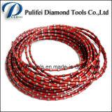 Sinterização Electroplate Braze Diamond Wire Saw Beads Cutting Rope Saw