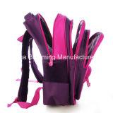 Les gosses de filles ont estampé le sac d'école de sac à dos d'élèves de polyester pour des enfants