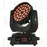 36X18W 단계 급상승 광속 LED 이동하는 맨 위 세척