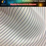Forro por atacado da listra azul, tela tingida do fio de poliéster para o terno (S148.151)