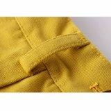 Moda que ajusten bien los pantalones de algodón amarillo cortos de las muchachas para el verano