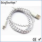 나일론 iPhone & 인조 인간 전화를 위한 직물에 의하여 땋아지는 Sync USB 책임 케이블