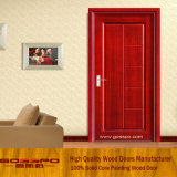 習慣によって薄板にされるMDFの木のパネル・ドア(GSP8-013)