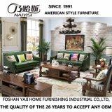Sala de estar com design moderno mobiliário sofá de couro (como848)