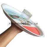 Antischienen-haltbares Plastikstab-Umhüllung-Bier-Tellersegment für Gläser