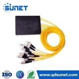 Divisore ottico del PLC della fibra per l'apparecchiatura di collaudo di lan CATV 2X4, divisore 2.0mm del PLC dell'ABS 2X8