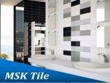 Glanz-hellgraue abgeschrägte keramische glasig-glänzende Wand-Fliese