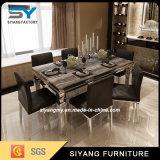 Tabelas de jantar de mármore ajustadas do aço inoxidável da tabela da mobília Home