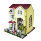Деревянный Dollhouse с игрушкой мебелей