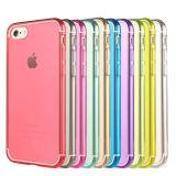 Caso de TPU transparente colores para el iPhone 7