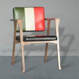 Cadeira de madeira moderna da mobília do restaurante com cor tripla e braço (SP-EC650)