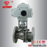 2PC Válvula Esférica flangeada de aço inoxidável com o Atuador Elétrico