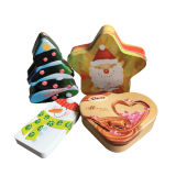 Prenda de Natal Atacado Chsristmas Tree Shape Tin Box