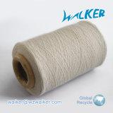 Filo di cotone riciclato filato bianco grezzo cardato dell'estremità aperta del filato per il lavoro a maglia di funzionamento del guanto