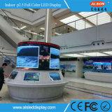 HD P2.5 Placa de publicidade de LED de interiores de cores completas para o Hall de construção