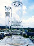 Tubo de agua grande del tubo de agua del vidrio de Borosilicate del tubo del rey 16.4inch de la Hb que fuma del tazón de fuente de cristal del colector común femenino recto del hielo
