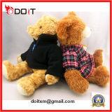 Ursos feitos sob encomenda da peluche do luxuoso da peluche de Brown do logotipo