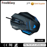 High Dpi LED Backlith 7D USB Wired Large PC Mouse
