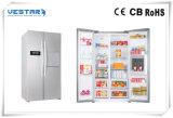 Réfrigérateur supérieur et inférieur de plein acier inoxydable de porte de cuisine
