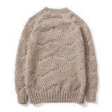 Maglione del tessuto lavorato a maglia jacquard su ordinazione caldo di colore del cardigan della copertura del vestito dall'uomo