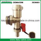 Laiton forgé de qualité personnalisé la soupape de purge de l'air/vanne de gaz (IC-3092)