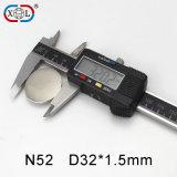 Электрический сильный тонкий магнит неодимия диска N35