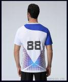 Futebol 100% feito sob encomenda da camisa da impressão T do Sublimation do engranzamento do poliéster da venda por atacado do modelo novo de Jersey dos esportes Jersey