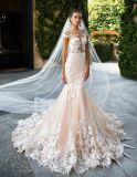 Custom Made High Quality Champagne / Marfim Vestidos de casamento