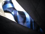 Soie tissée par jacquard de la qualité (PStrip14-17), la cravate des hommes de cravate de polyester