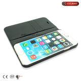 Caixa do couro + do telefone móvel da tela para o iPhone