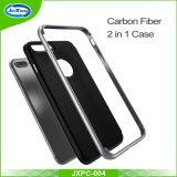 Novos produtos Fibra de Carbono 2 em 1 TPU + PC Protetor de capa de telefone de silicone para Samsung Galaxy S7 Case