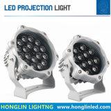 proiettore impermeabile LED dell'indicatore luminoso esterno IP65 RGB DMX LED della proiezione di 12W 18W