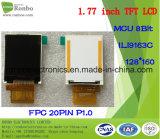 Modulo 1.77 pollici 128 * 160 MCU TFT LCD, Ili9163c, 20pin con schermata delle opzioni di tocco