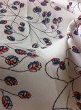 Tissu 100% de robe de Polyester Crepe De Chin Printed