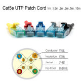 Cat 6 Patch cable con conector de cable LSZH