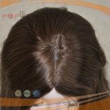 가득 차있는 브라운 색깔 Remy Virgin 머리 실크 최고 여자 가발