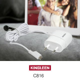 Chargeur de voyage mobile Kingleen C816 pour iPhone7, 1.2mwire, 5V1a, Chargeur direct intelligent vers l'Europe