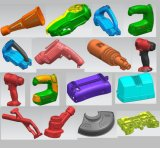 Molde do trabalho feito com ferramentas da modelagem por injeção para as peças plásticas