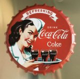 Coca- Colametallbierflasche-Schutzkappe