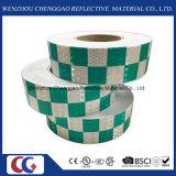 Il disegno ad alta intensità di griglia ha stampato il nastro riflettente fluorescente del PVC fatto con la pellicola di cristallo di Lattic