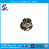 Cabeça do hexágono da porca da flange chapeada do zinco do RUÍDO 6923 com flange