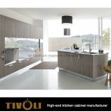 ハンドル島および純木Benchtop Tivo-0230hが付いている自由なデザインLaquerの台所単位